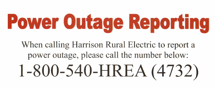 Harrison Rural Electric Outage Number
